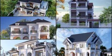Những bản vẽ biệt thự thiết kế có 6 phòng ngủ 2 3 tầng