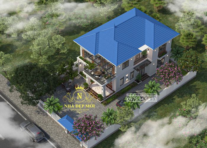 Biệt thự 2 tầng 4 phòng ngủ 9x14m