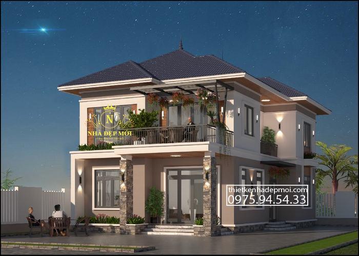 Nhà mái nhật 2 tầng 100m2