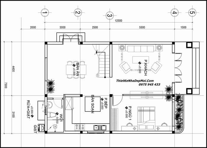 Nhà 2 tầng 8x13m