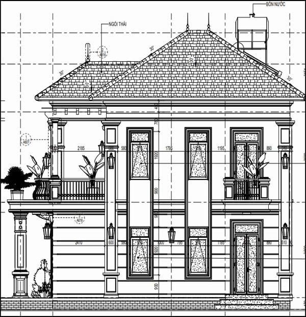Thiết kế nhà rộng 8m dài 13m