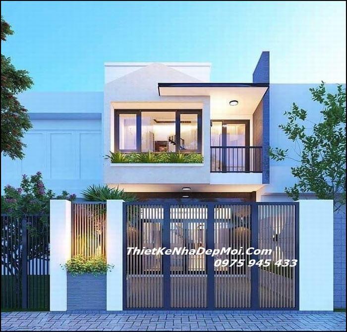 Nhà 1 trệt 1 lầu mặt tiền 5m 2022