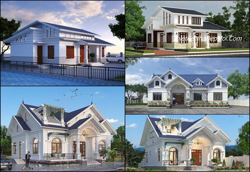 nhà có tầng áp mái 2022
