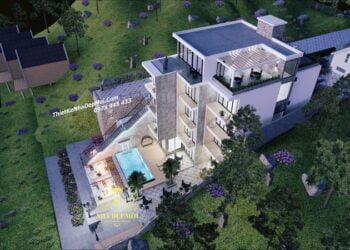 Thiết kế nhà nghỉ 4 tầng
